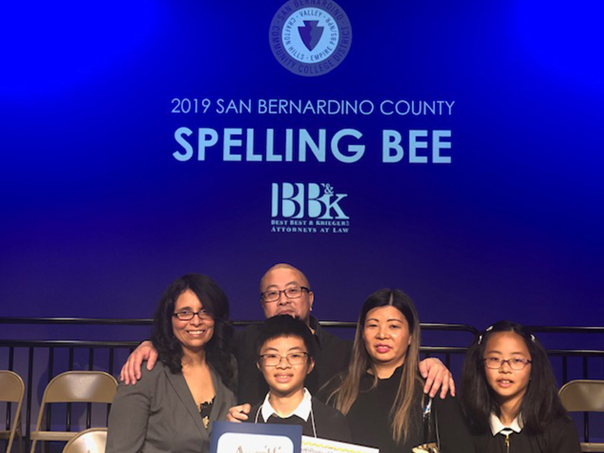 BB&K Partner Isabel Safie Helps the San Bernardino County Spelling Bee Buzz On
