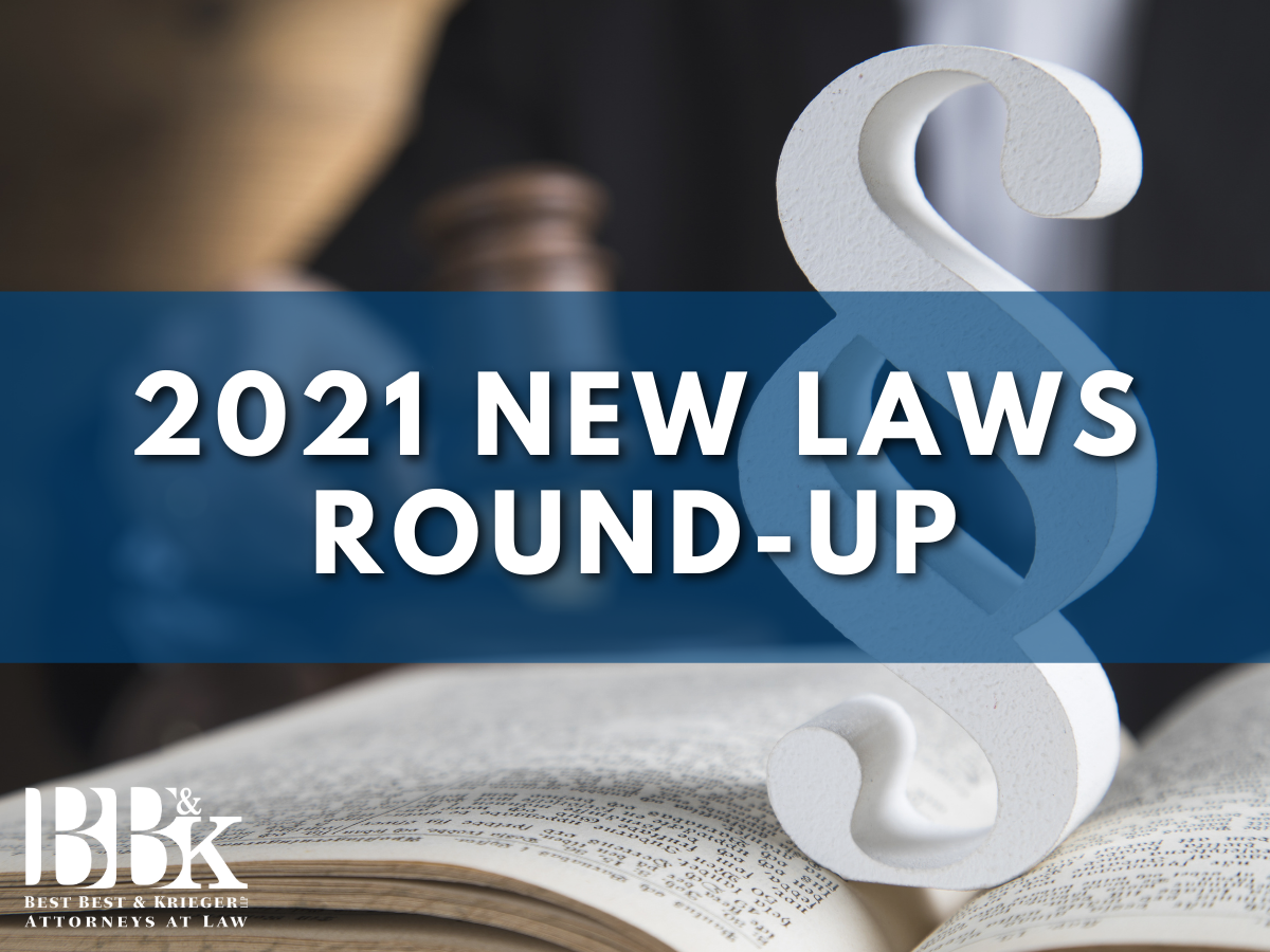 New Laws 2021 Roundup